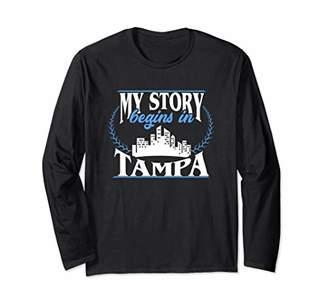 Tampa shirt | Born in Tampa Long Sleeve T-Shirt