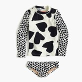 J.Crew Girls' mixed hearts rash guard set