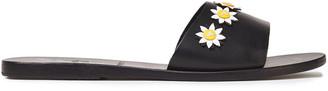 Ancient Greek Sandals + Fabrizio Viti Paola Floral-appliqued Leather Slides