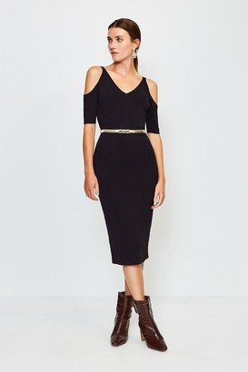 Karen Millen Cold Shoulder Knitted Dress