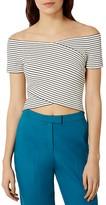 Karen Millen Striped Off-The-Shoulder Top