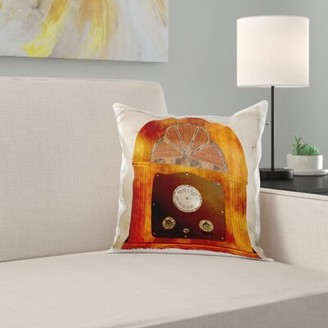 Old Fashion Radio of Years Gone Pillow Cover East Urban Home