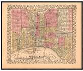 McGaw Graphics Plan of New York City, 1867 by Ward Maps (Framed)