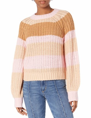 Finders Keepers findersKEEPERS Women's Mariposa Striped Chunky Knit Sweater