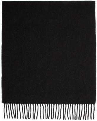 Won Hundred Reversible Black and Grey Wool Vanessa Doubled Scarf