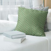 """Holiday Patterns Zig Zag Pillow Cover East Urban Home Size: 14"""" x 14"""", Color: Green/Red"""