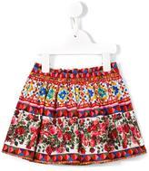 Dolce & Gabbana Mambo print pleated skirt - kids - Cotton - 3-6 mth