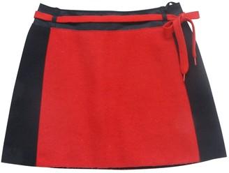 Miu Miu Red Wool Skirt for Women Vintage