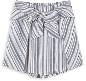 Habitual Girl's Striped Wrap Skort