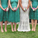 Nancy Mac Bespoke Lace Bridesmaid Dresses In Jade
