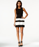 Bar III Colorblocked Fit & Flare Dress