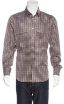 Tom Ford Plaid Western Shirt