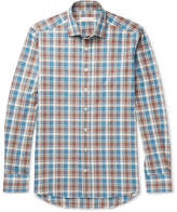 Etro Checked Brushed-Cotton Shirt