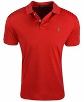 Polo Ralph Lauren Mens Pima Soft Touch Interlock Polo Shirt (L, RL 2000 Red)