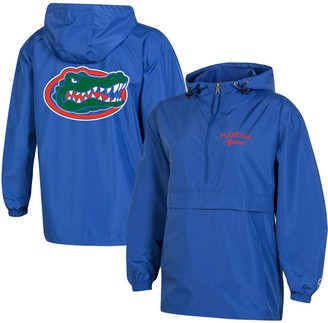 Champion Women's Royal Florida Gators Packable Half-Zip Light Rain Jacket