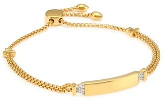 Monica Vinader 18K Gold Vermeil Sterling Silver Diamond Bar Chain Bracelet