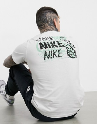 Nike Basketball explote Brooklyn logo t-shirt in white