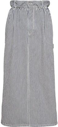 Miu Miu Striped Straight Skirt