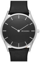 Skagen Women&s Holst Leather Strap Watch
