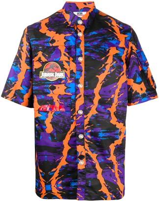 GCDS Abstract Print Multi-Pocket Shirt