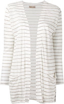 Cruciani striped cardigan - women - Linen/Flax - 40