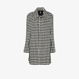 Natasha Zinko Houndstooth Embroidered Coat
