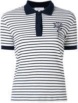 Carven striped polo shirt - women - Cotton/Spandex/Elastane - L