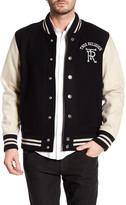 True Religion Super Cross Varsity Jacket