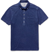 Brunello Cucinelli - Slim-fit Button-down Collar Cotton-piqué Polo Shirt