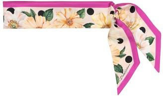Dolce & Gabbana Floral silk twill scarf