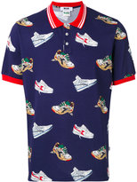 MSGM sneaker print polo shirt