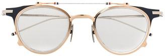 Thom Browne Eyewear Double Frame Round Glasses