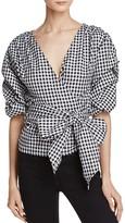 MLM Label Salo Gingham Wrap Shirt