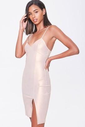 Forever 21 Bodycon Slit Mini Dress