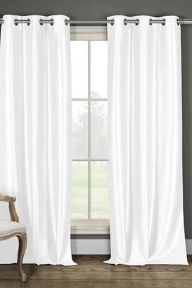 Duck River Textile Daenery's Faux Silk Foamback Grommet Curtains 96L - Set of 2 - White