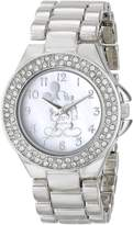 Disney Women's Mickey Mouse Mother-of-Pearl Dial Tone Watch MK2055