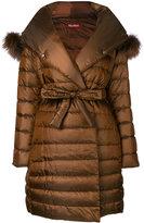 Max Mara fox fur hooded jacket