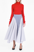 ADAM by Adam Lippes Asymmetric Striped Skirt