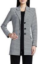 Misook Amelie Long Striped Jacket, Plus Size