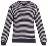 Orlebar Brown Pierce striped stretch-cotton sweatshirt