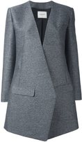 Lanvin diagonal cut blazer-style coat - women - Silk/Cotton/Viscose/Wool - 34