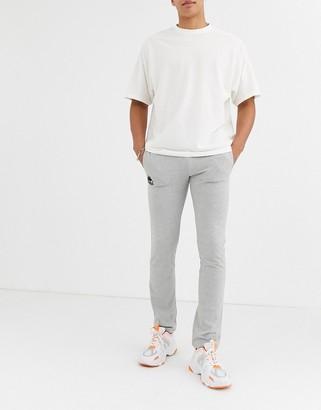 Kappa branded tracksuit bottoms-Grey