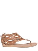 Ancient Greek Sandals - Natural Tan Leather Thong Sandal Flats