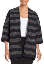 Helene Berman Striped Wool Sparkle Jacket