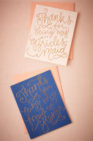 BHLDN Quilled Thank You Card