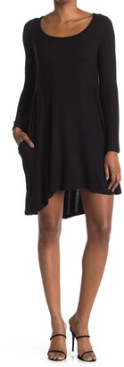 Threads And States Cozy Scoop Neck Long Sleeve A-Line Dress