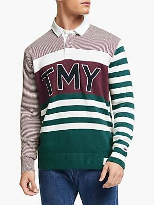 Tommy Hilfiger Tommy Jeans Rugby TMY Sweater, Burgundy/Multi