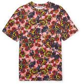 McQ Floral-print Cotton-jersey T-shirt - Pink