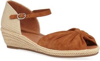 Gentle Souls Lucille Suede Demi-Wedge Sandals