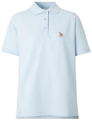 Burberry Deer Motif Cotton Polo Shirt
